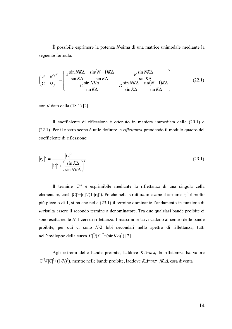 Anteprima della tesi: Dispositivi a banda fotonica proibita a cristalli liquidi, Pagina 14