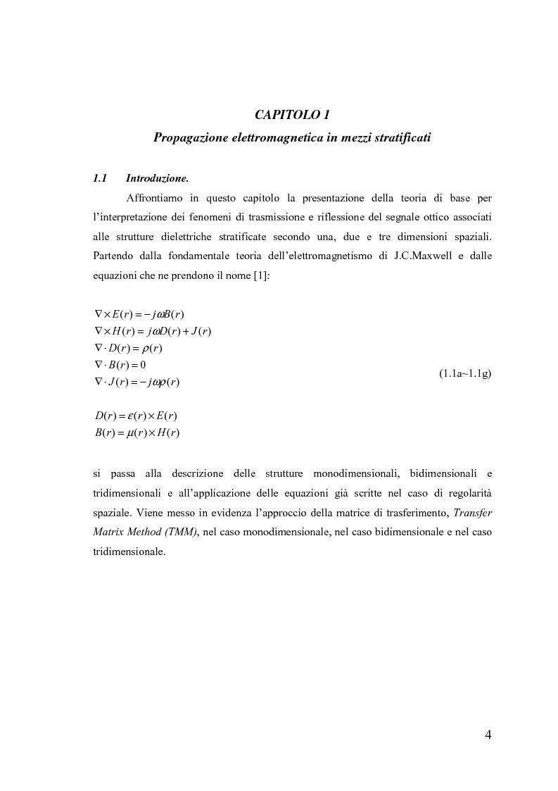 Anteprima della tesi: Dispositivi a banda fotonica proibita a cristalli liquidi, Pagina 4
