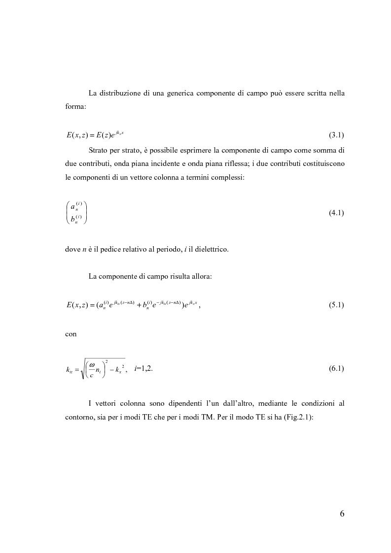 Anteprima della tesi: Dispositivi a banda fotonica proibita a cristalli liquidi, Pagina 6