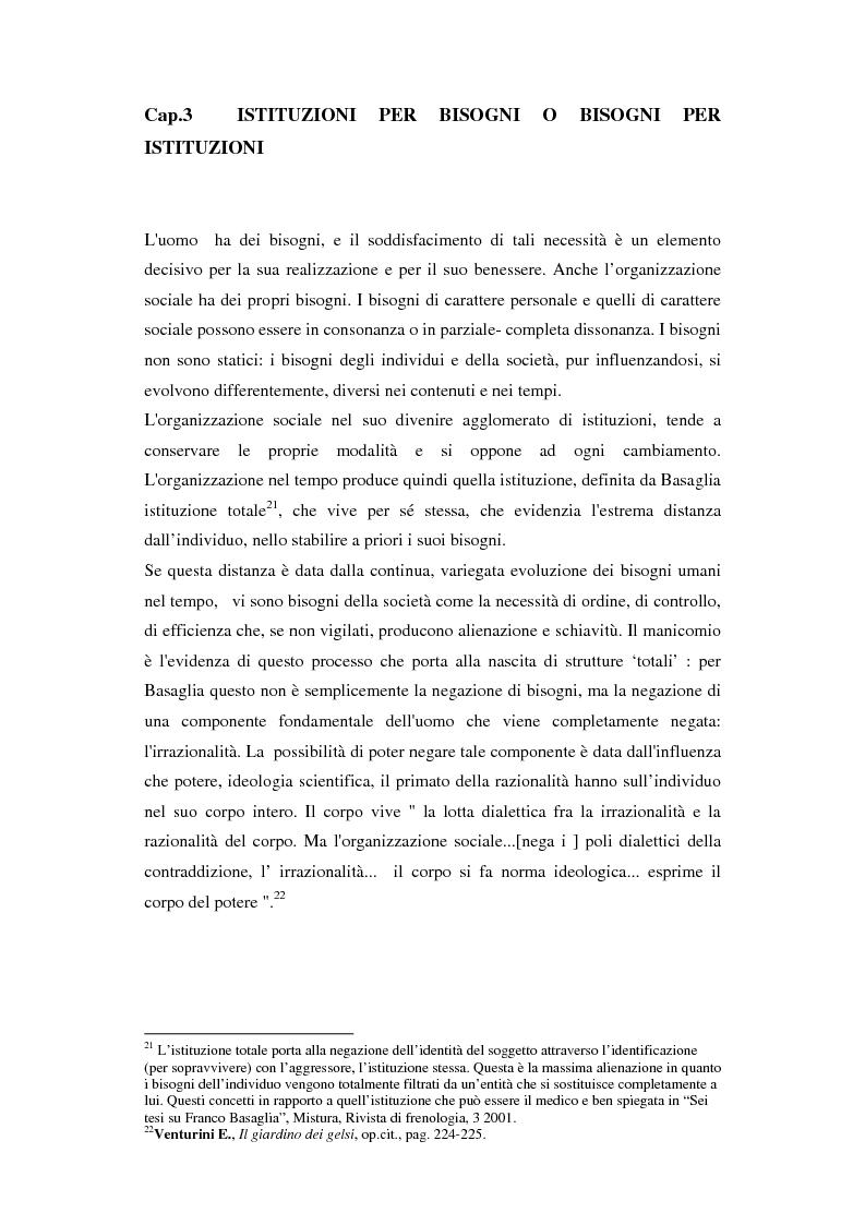 Estratto dalla tesi: L'eredità basagliana