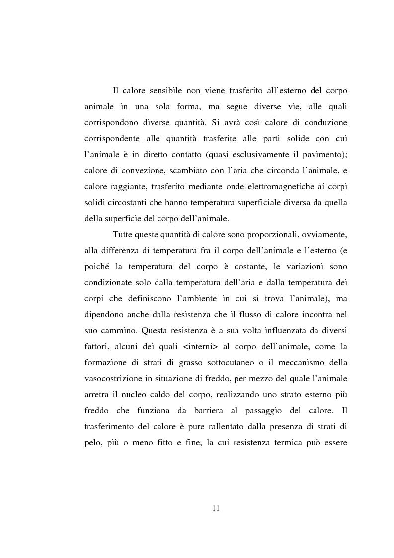 Anteprima della tesi: Impiego dei simulatori termici per l'analisi degli effetti del clima sul benessere termico di una pecora al pascolo, Pagina 11