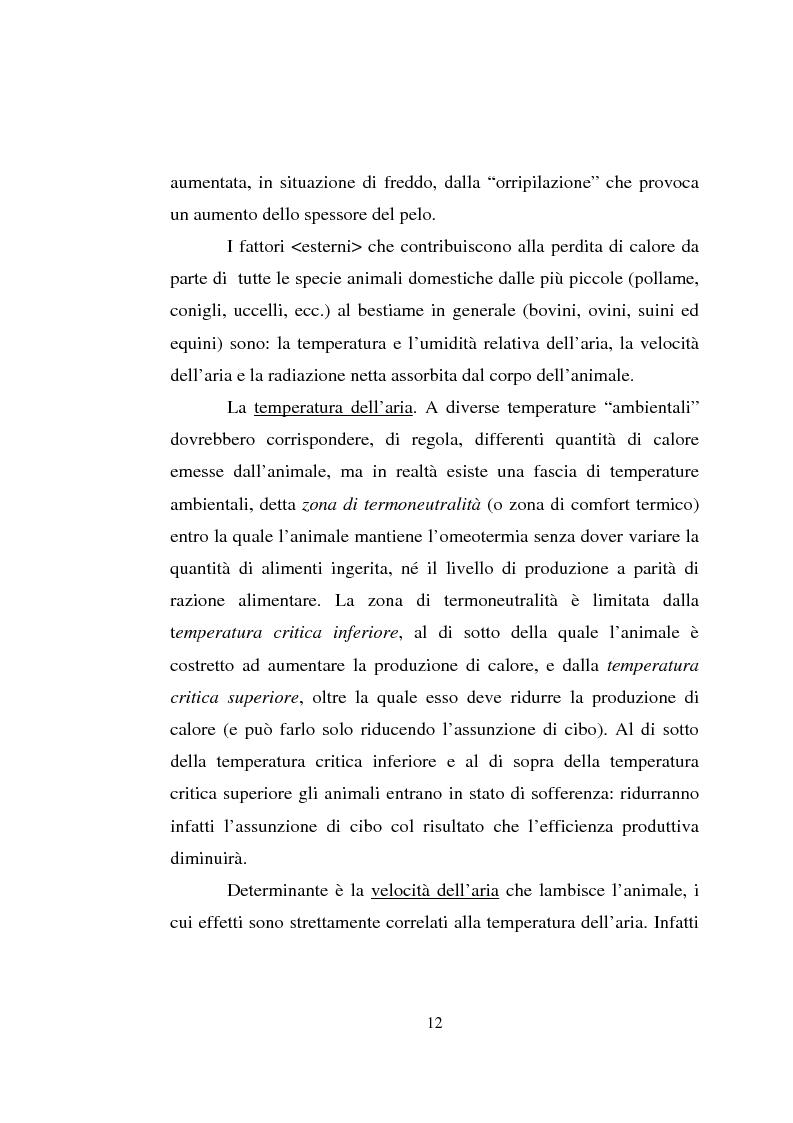 Anteprima della tesi: Impiego dei simulatori termici per l'analisi degli effetti del clima sul benessere termico di una pecora al pascolo, Pagina 12