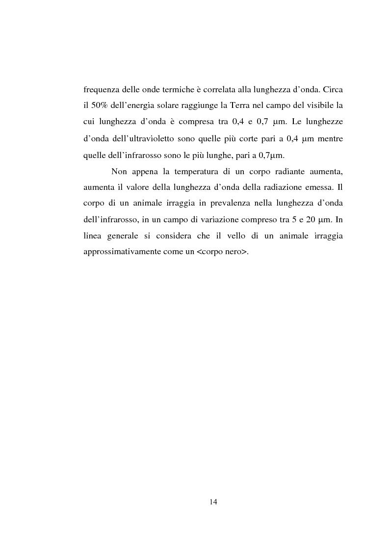 Anteprima della tesi: Impiego dei simulatori termici per l'analisi degli effetti del clima sul benessere termico di una pecora al pascolo, Pagina 14