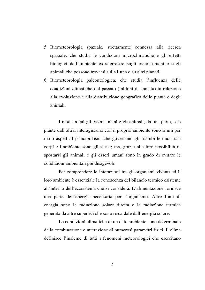 Anteprima della tesi: Impiego dei simulatori termici per l'analisi degli effetti del clima sul benessere termico di una pecora al pascolo, Pagina 5