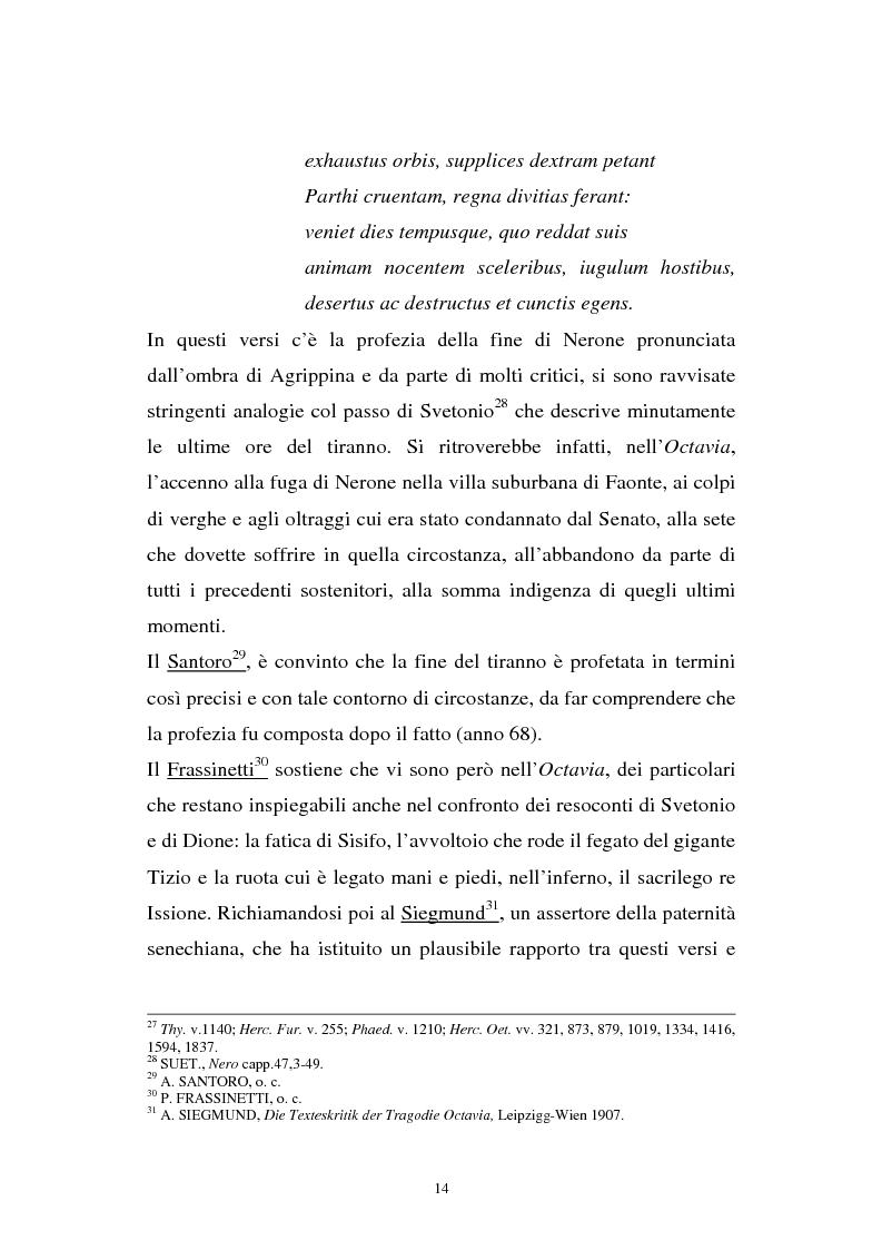 Anteprima della tesi: Ricerche sull'Octavia, Pagina 14