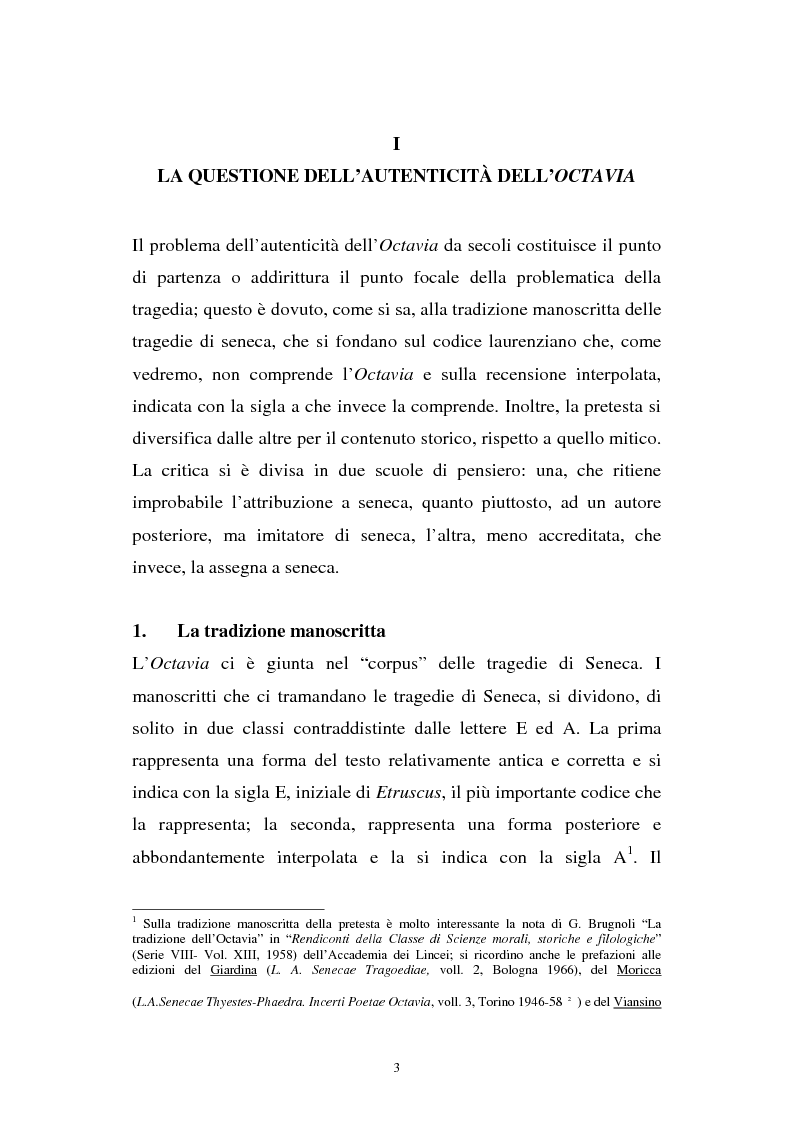 Anteprima della tesi: Ricerche sull'Octavia, Pagina 3