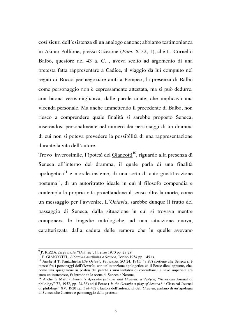 Anteprima della tesi: Ricerche sull'Octavia, Pagina 9