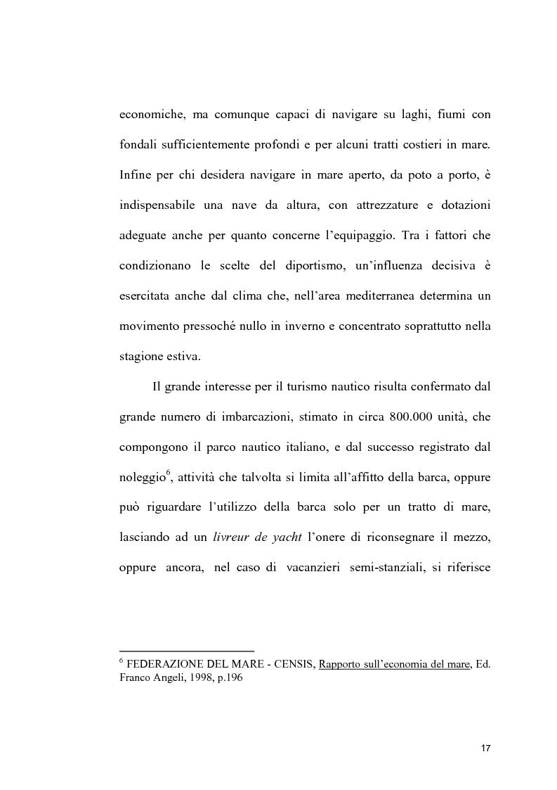 Anteprima della tesi: Strutture portuali e spazio relazionale: il caso della nautica da diporto nel Savonese, Pagina 15