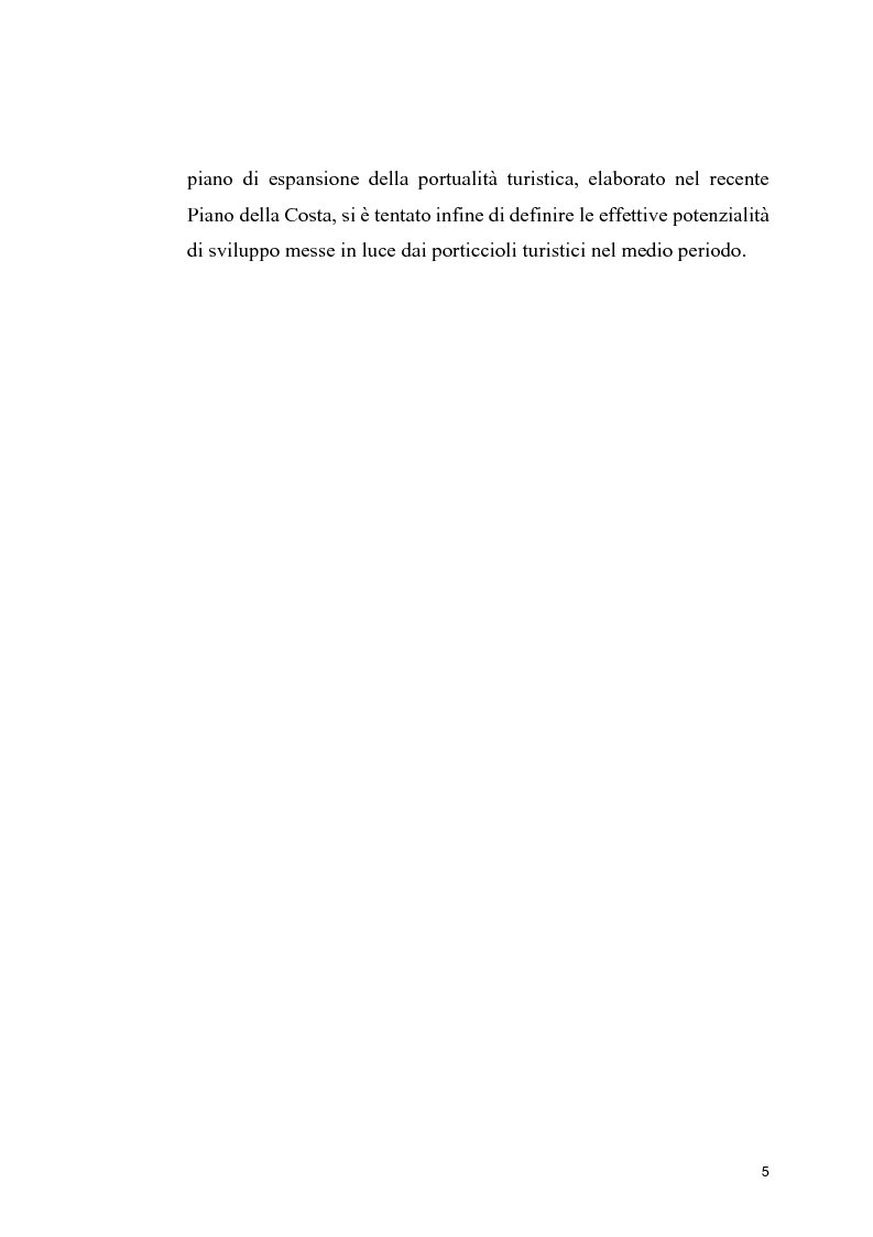 Anteprima della tesi: Strutture portuali e spazio relazionale: il caso della nautica da diporto nel Savonese, Pagina 3