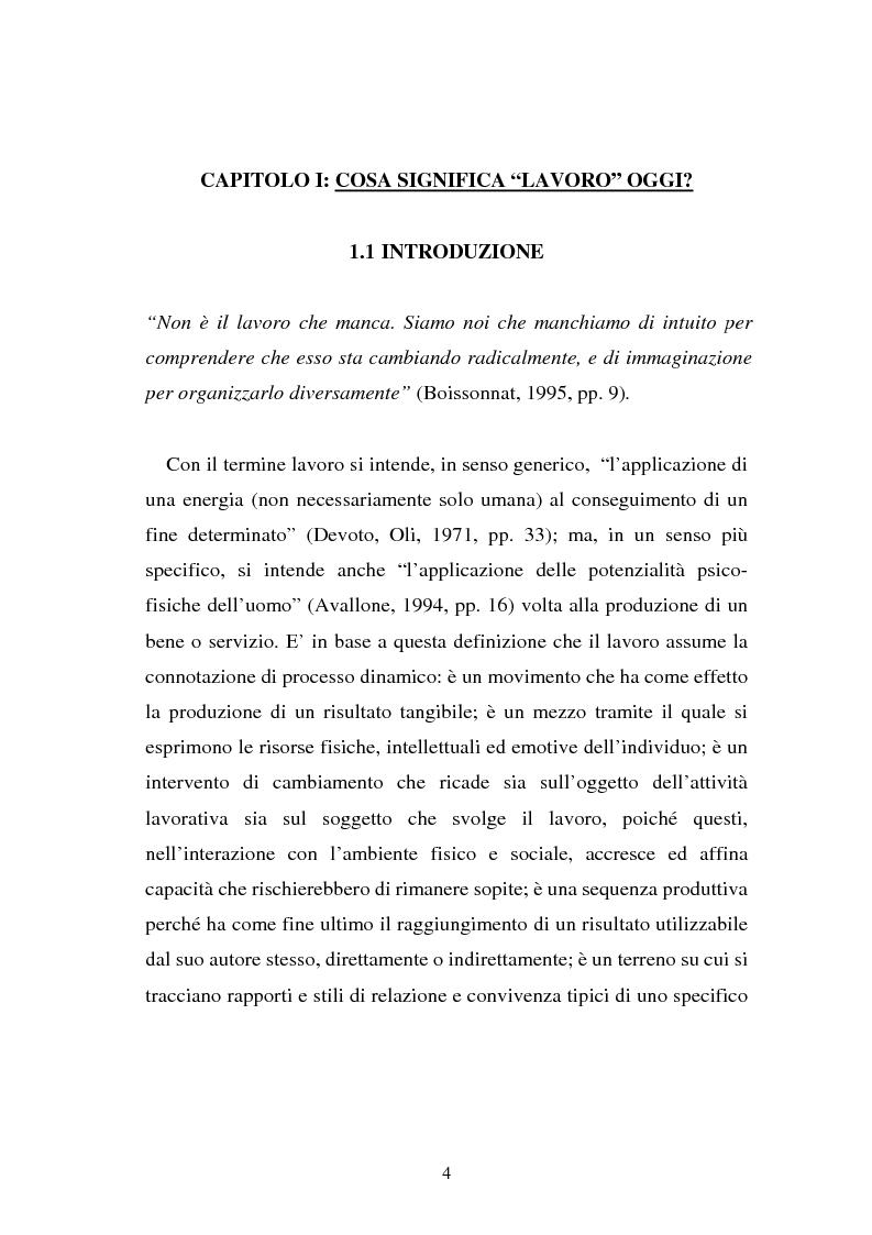 Anteprima della tesi: Flessibilità e mediazione del lavoro temporaneo: un caso aziendale, Pagina 1