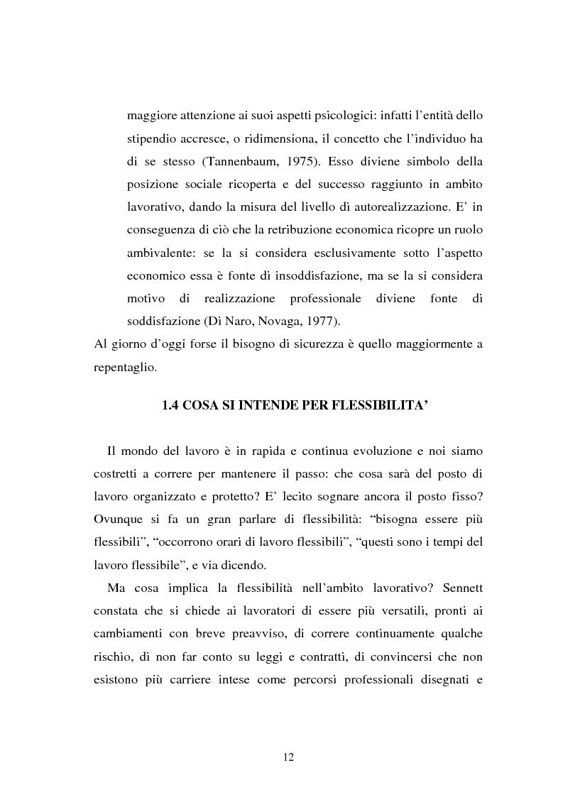 Anteprima della tesi: Flessibilità e mediazione del lavoro temporaneo: un caso aziendale, Pagina 9