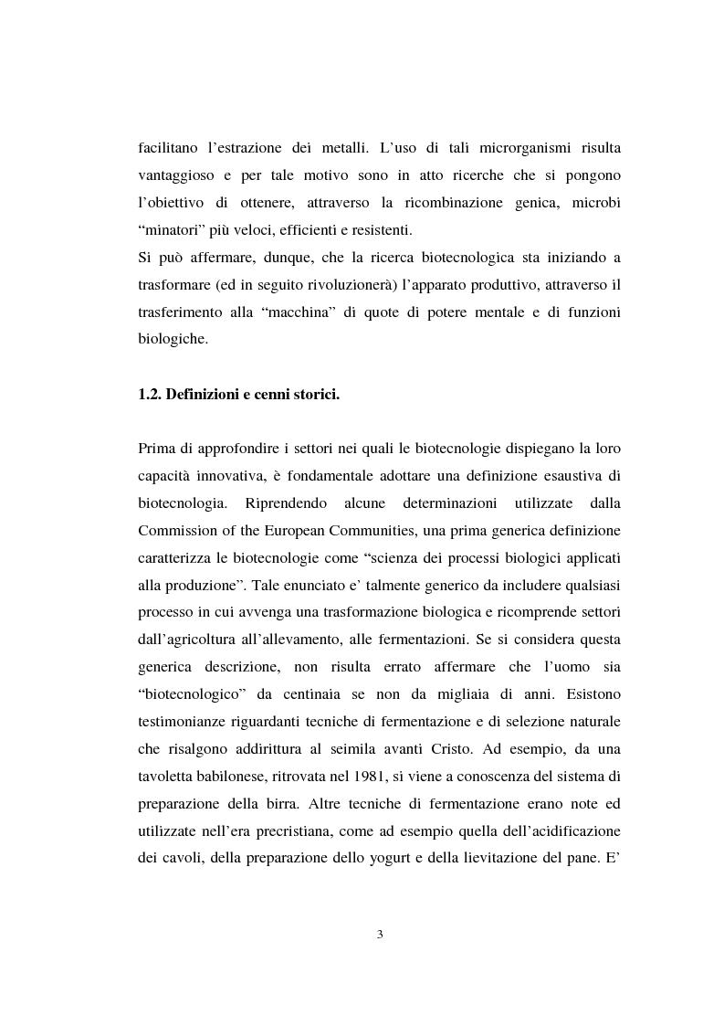 Anteprima della tesi: La valutazione delle aziende biotecnologiche: i possibili ambiti d'intervento degli intermediari finanziari, Pagina 3