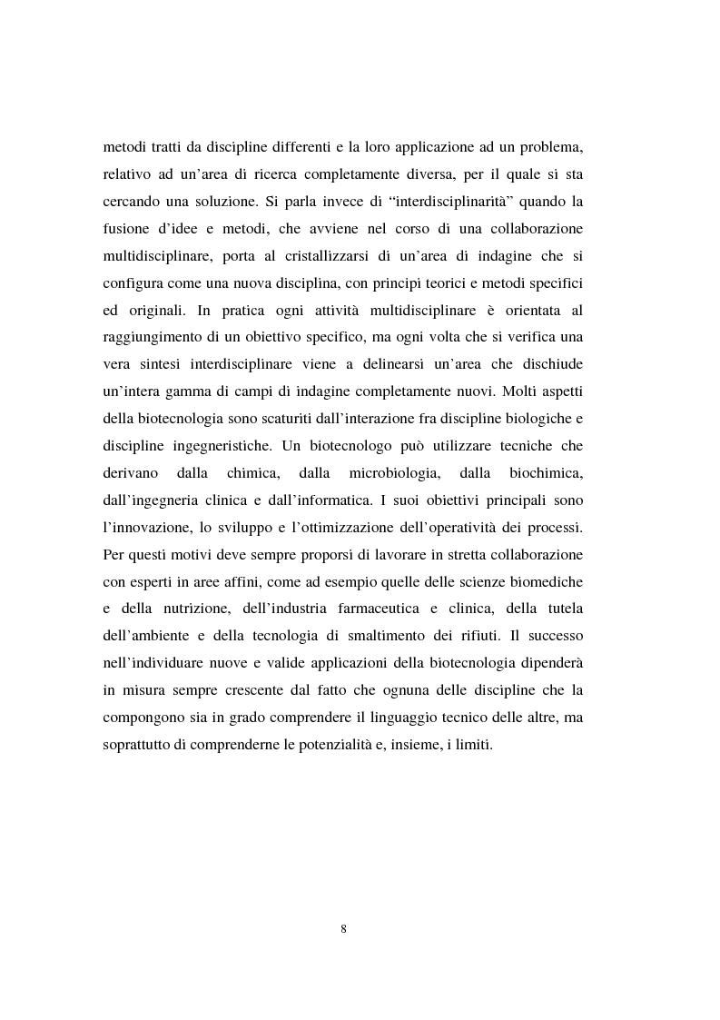 Anteprima della tesi: La valutazione delle aziende biotecnologiche: i possibili ambiti d'intervento degli intermediari finanziari, Pagina 8