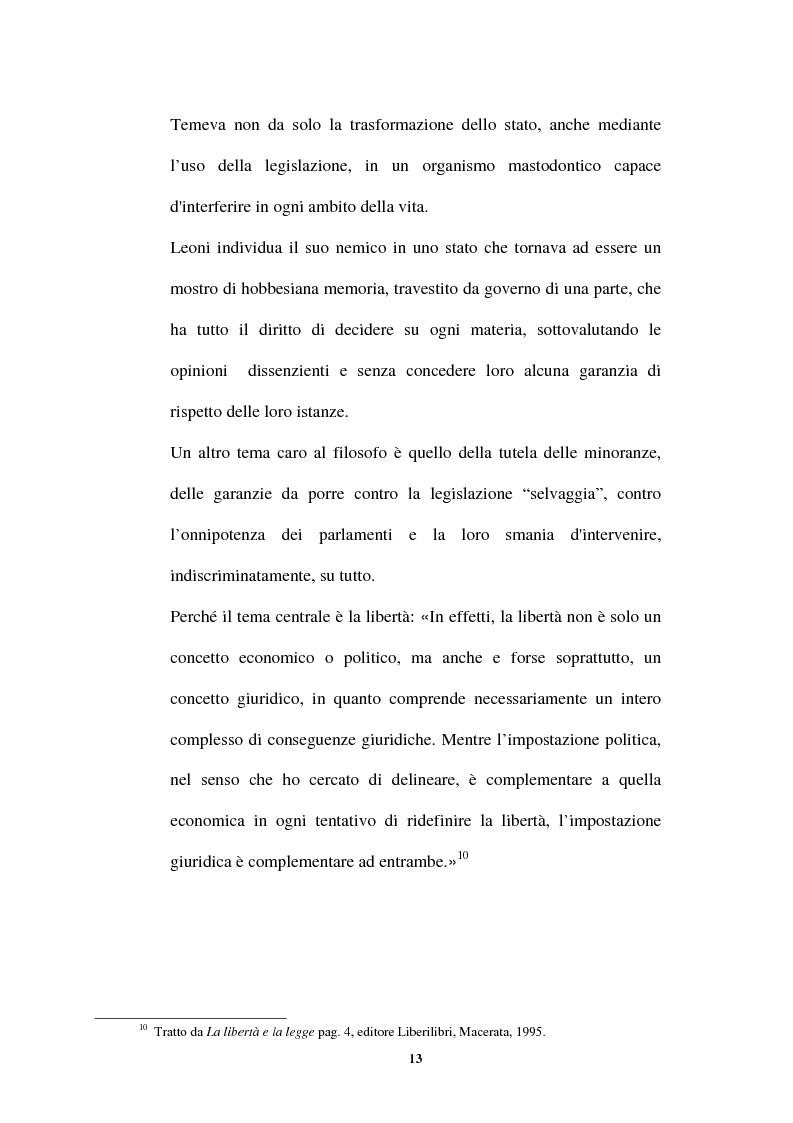 Anteprima della tesi: L'idea di uno stato privo di coercizioni nella filosofia del diritto di Bruno Leoni, Pagina 12