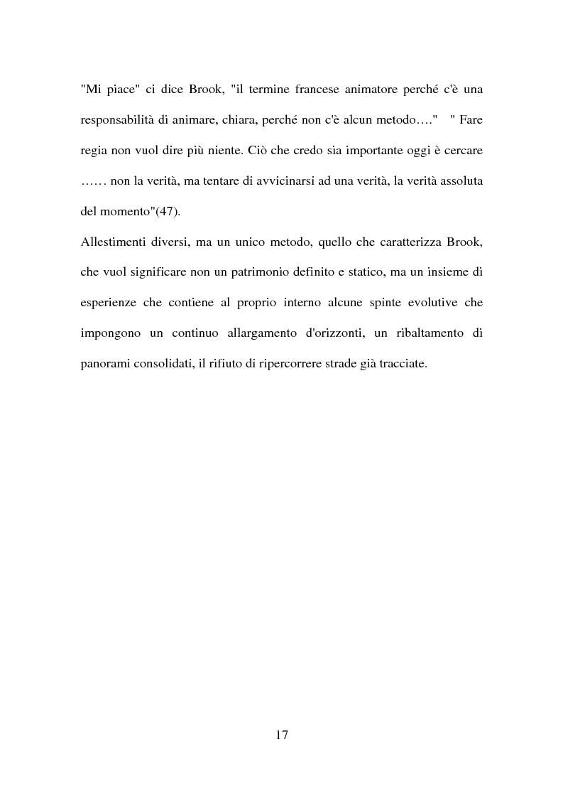 Anteprima della tesi: Peter Brook: appunti di regia, Pagina 15