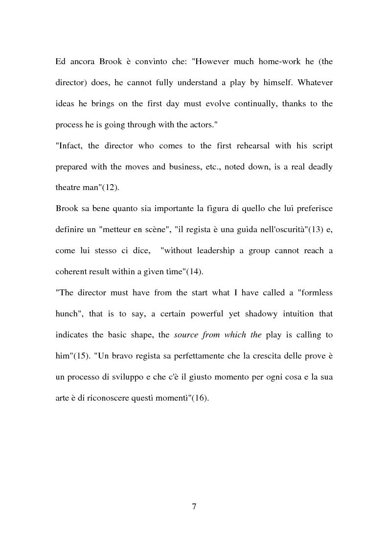 Anteprima della tesi: Peter Brook: appunti di regia, Pagina 5