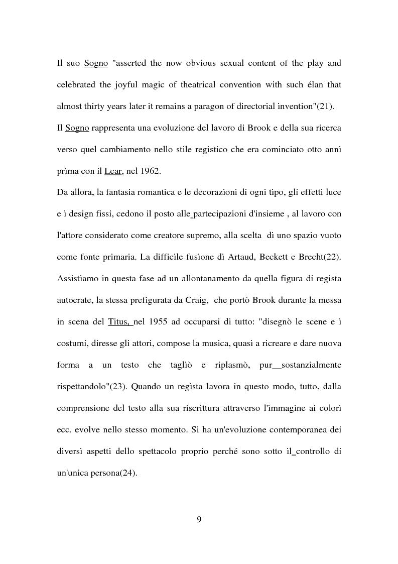 Anteprima della tesi: Peter Brook: appunti di regia, Pagina 7