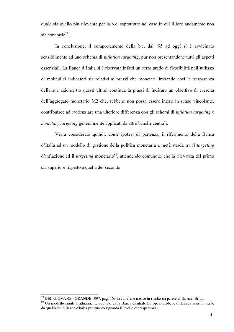 Anteprima della tesi: Un modello econometrico per l'analisi e la previsione dei tassi d'interesse nel mercato monetario, Pagina 18