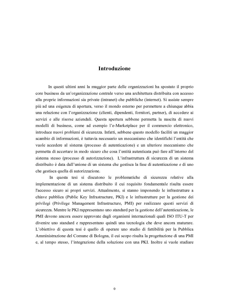 Anteprima della tesi: Progetto di sistemi di autorizzazione: un caso di studio per la Pubblica Amministrazione, Pagina 1