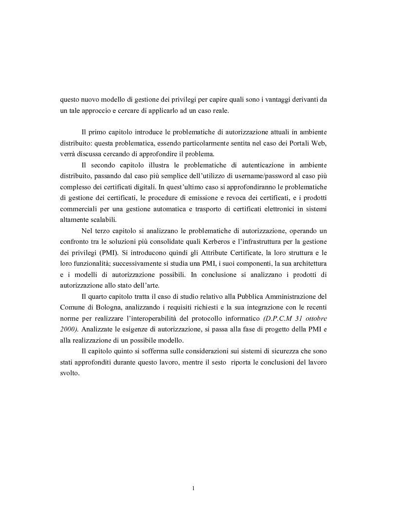 Anteprima della tesi: Progetto di sistemi di autorizzazione: un caso di studio per la Pubblica Amministrazione, Pagina 2