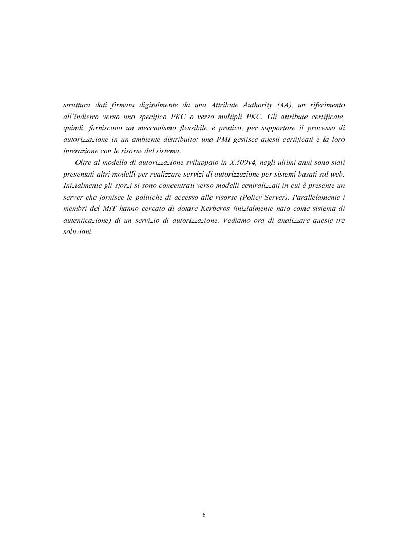 Anteprima della tesi: Progetto di sistemi di autorizzazione: un caso di studio per la Pubblica Amministrazione, Pagina 7