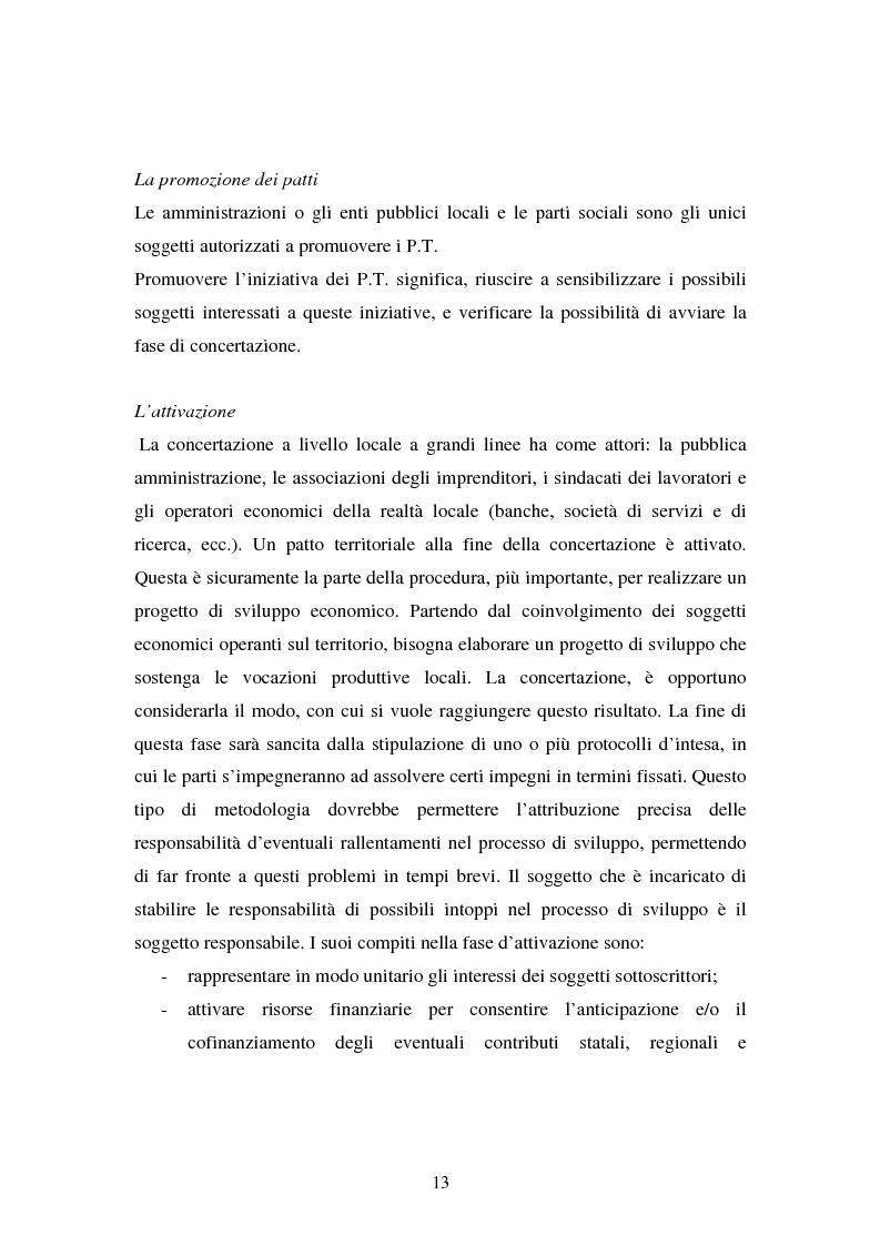 Anteprima della tesi: Le esperienze dei patti territoriali e la concertazione locale. Il caso Trieste., Pagina 11