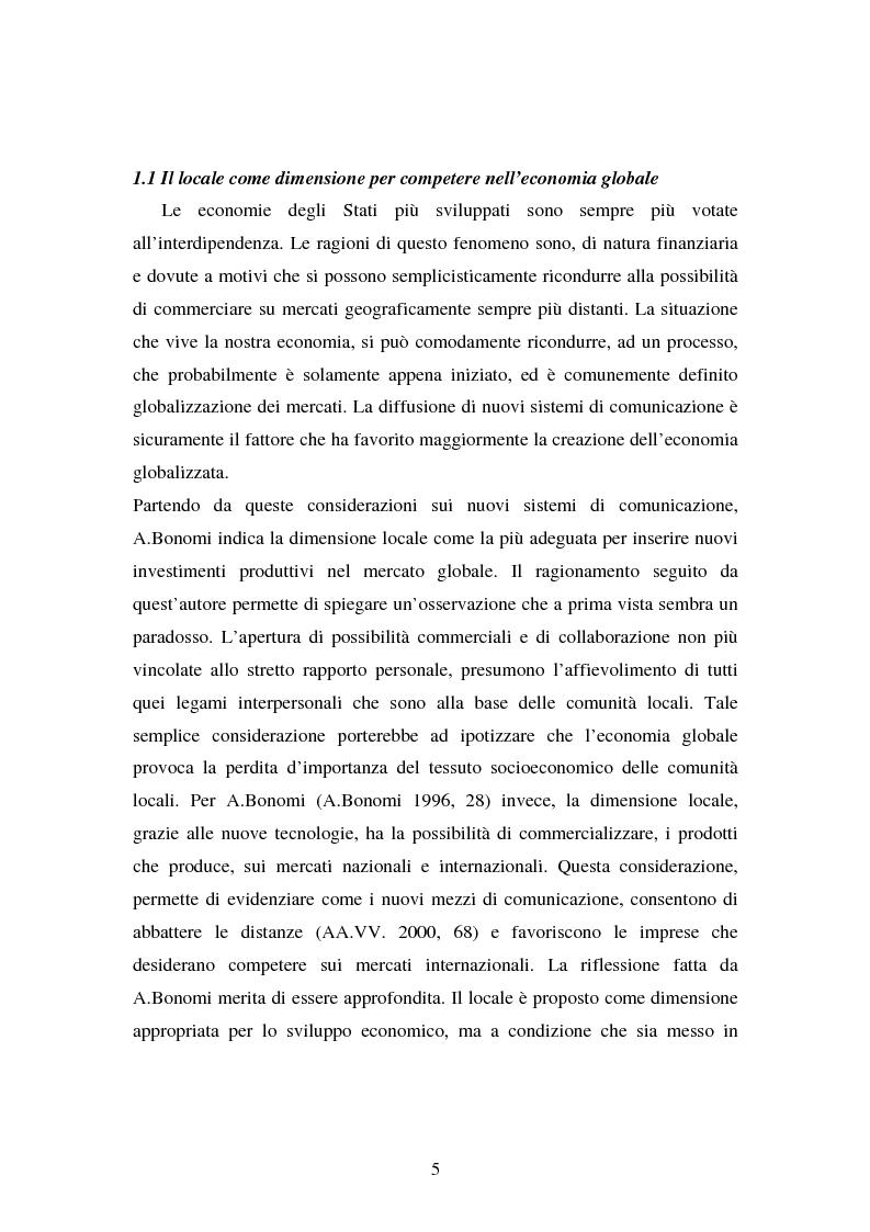 Anteprima della tesi: Le esperienze dei patti territoriali e la concertazione locale. Il caso Trieste., Pagina 3