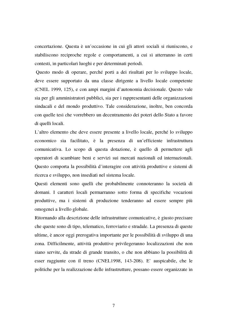 Anteprima della tesi: Le esperienze dei patti territoriali e la concertazione locale. Il caso Trieste., Pagina 5
