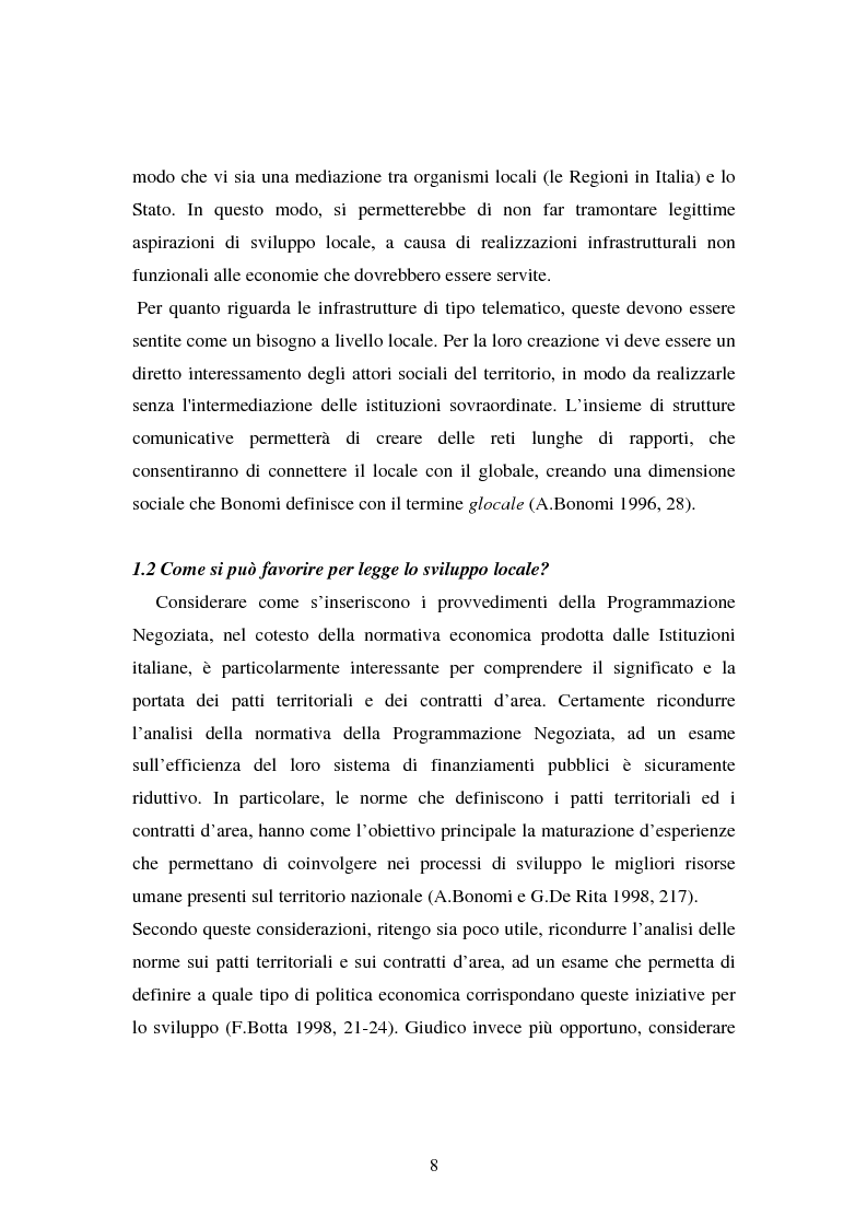 Anteprima della tesi: Le esperienze dei patti territoriali e la concertazione locale. Il caso Trieste., Pagina 6