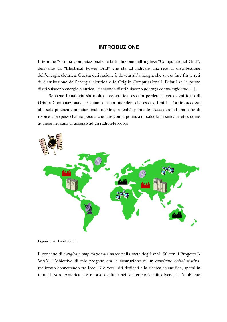 Anteprima della tesi: Simulazione di griglie computazionali: applicazione al progetto DataGRID, Pagina 1