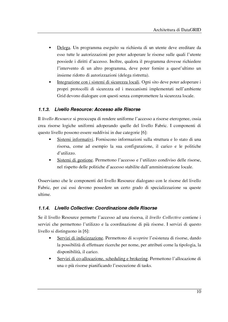 Anteprima della tesi: Simulazione di griglie computazionali: applicazione al progetto DataGRID, Pagina 10