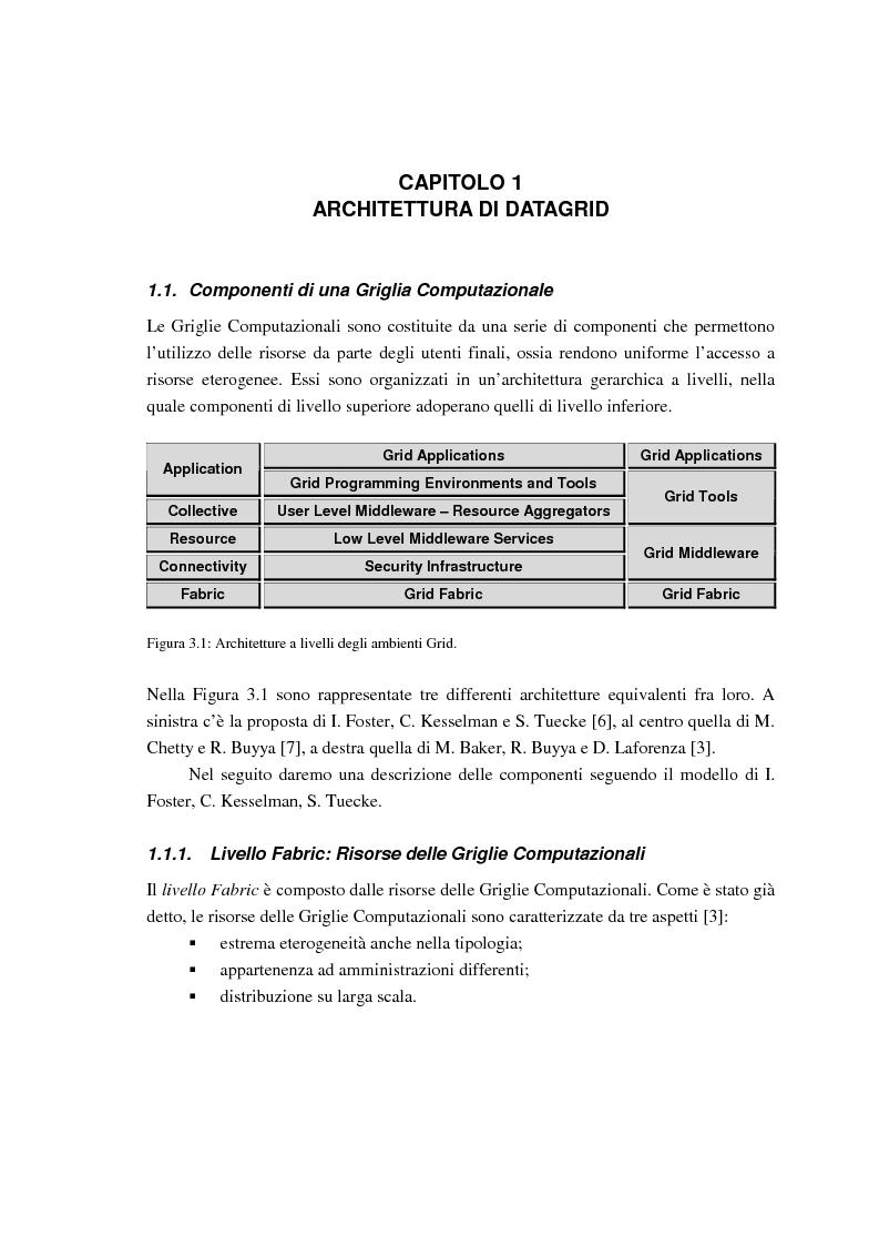 Anteprima della tesi: Simulazione di griglie computazionali: applicazione al progetto DataGRID, Pagina 8