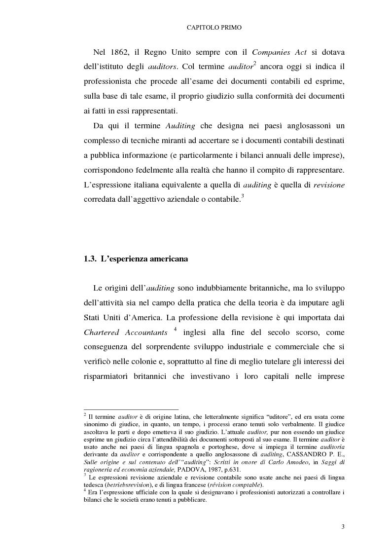 Anteprima della tesi: I mutamenti della revisione contabile alla luce del testo unico della finanza, Pagina 3