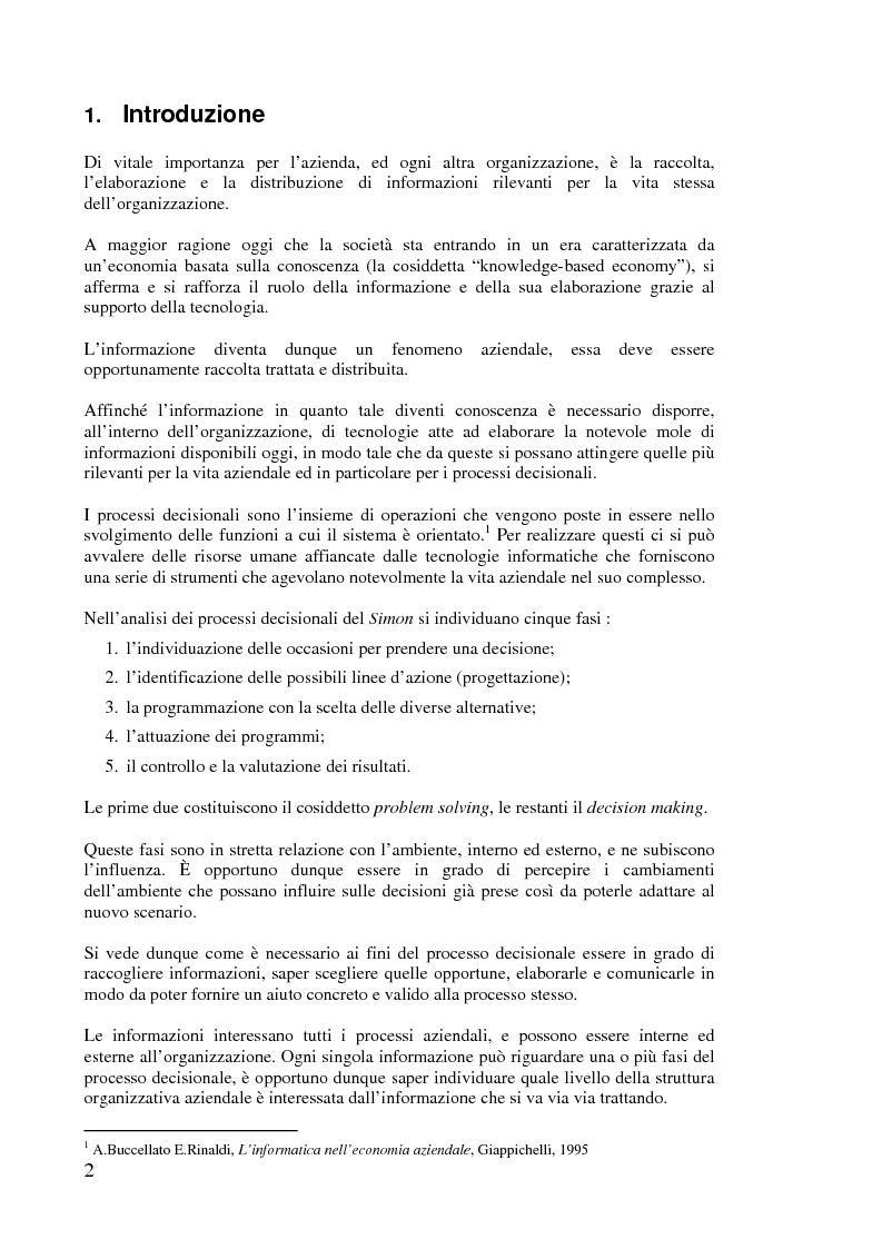 Anteprima della tesi: L'implementazione di Internet nell'azienda, Pagina 1