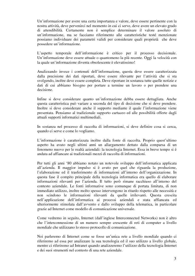 Anteprima della tesi: L'implementazione di Internet nell'azienda, Pagina 2