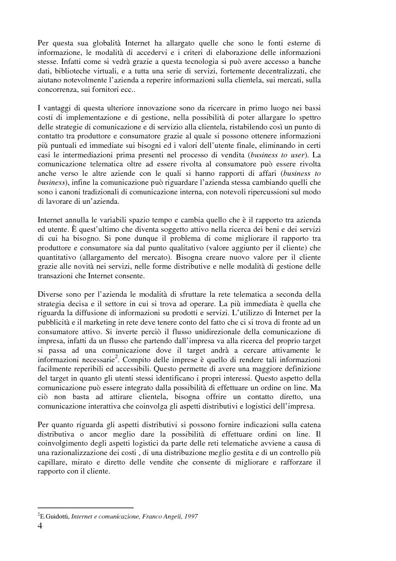 Anteprima della tesi: L'implementazione di Internet nell'azienda, Pagina 3