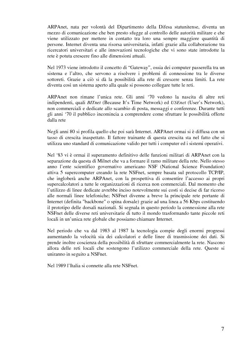 Anteprima della tesi: L'implementazione di Internet nell'azienda, Pagina 6