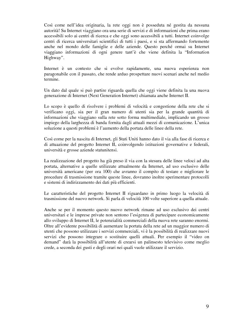 Anteprima della tesi: L'implementazione di Internet nell'azienda, Pagina 8