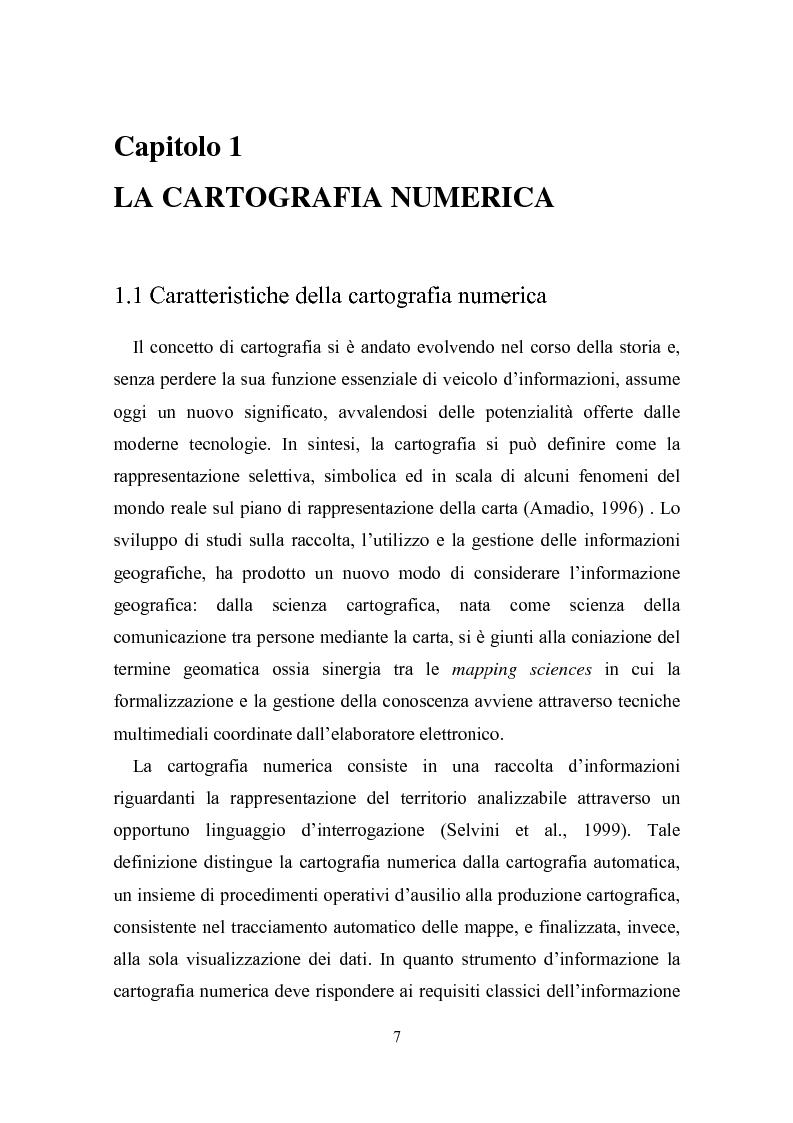 Anteprima della tesi: Utilizzazione della cartografia numerica per la formazione di Sistemi Informativi Territoriali, Pagina 3