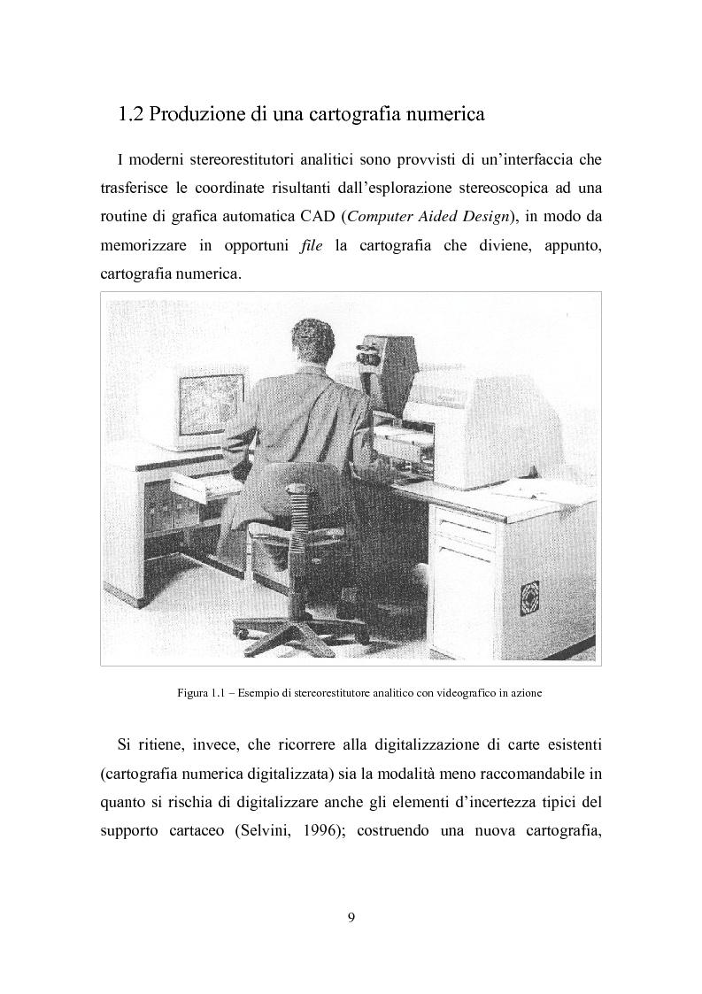 Anteprima della tesi: Utilizzazione della cartografia numerica per la formazione di Sistemi Informativi Territoriali, Pagina 5