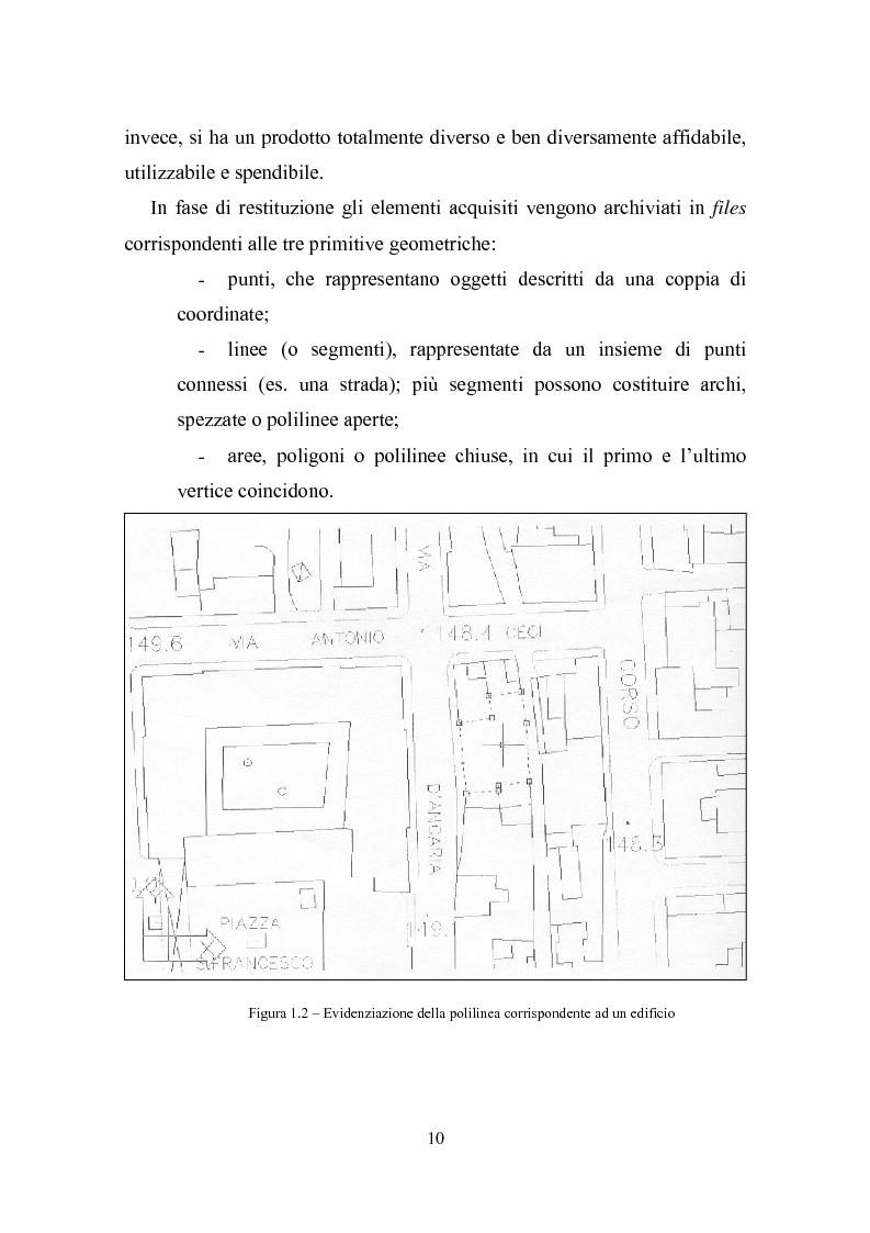Anteprima della tesi: Utilizzazione della cartografia numerica per la formazione di Sistemi Informativi Territoriali, Pagina 6