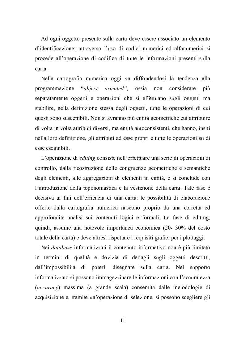 Anteprima della tesi: Utilizzazione della cartografia numerica per la formazione di Sistemi Informativi Territoriali, Pagina 7