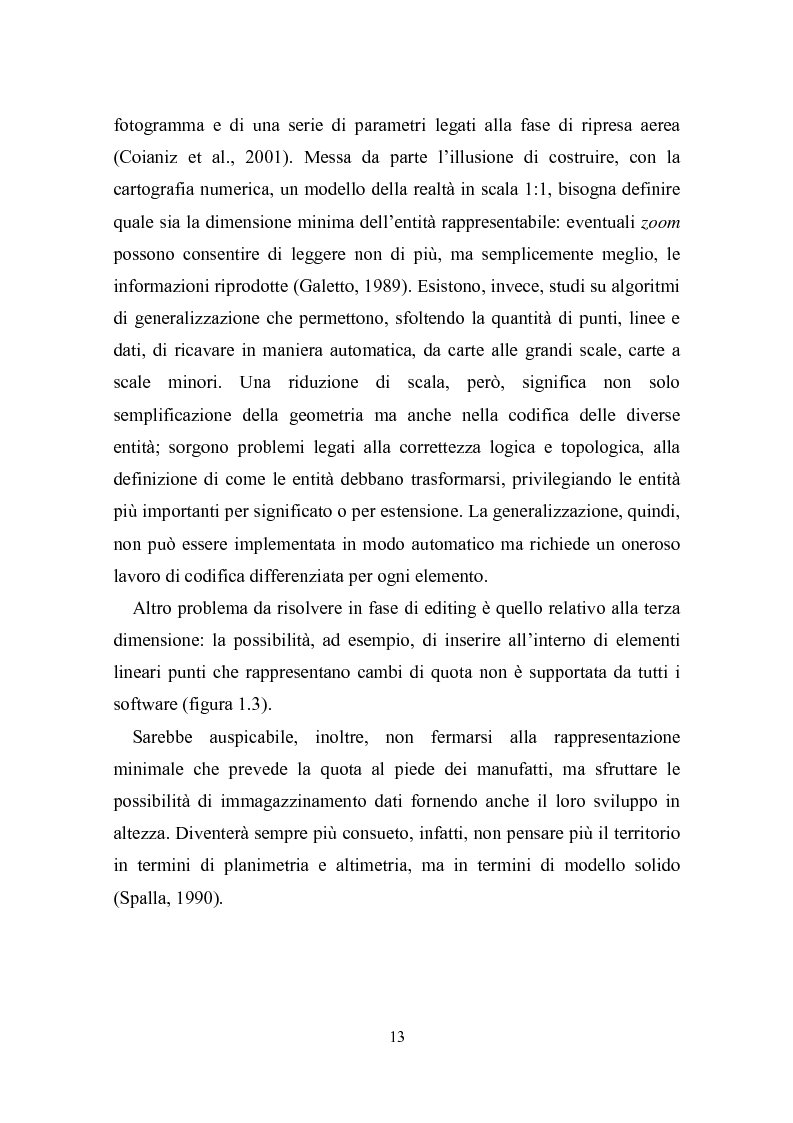 Anteprima della tesi: Utilizzazione della cartografia numerica per la formazione di Sistemi Informativi Territoriali, Pagina 9