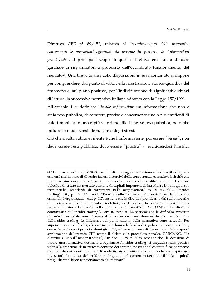 Anteprima della tesi: L'insider trading, Pagina 11