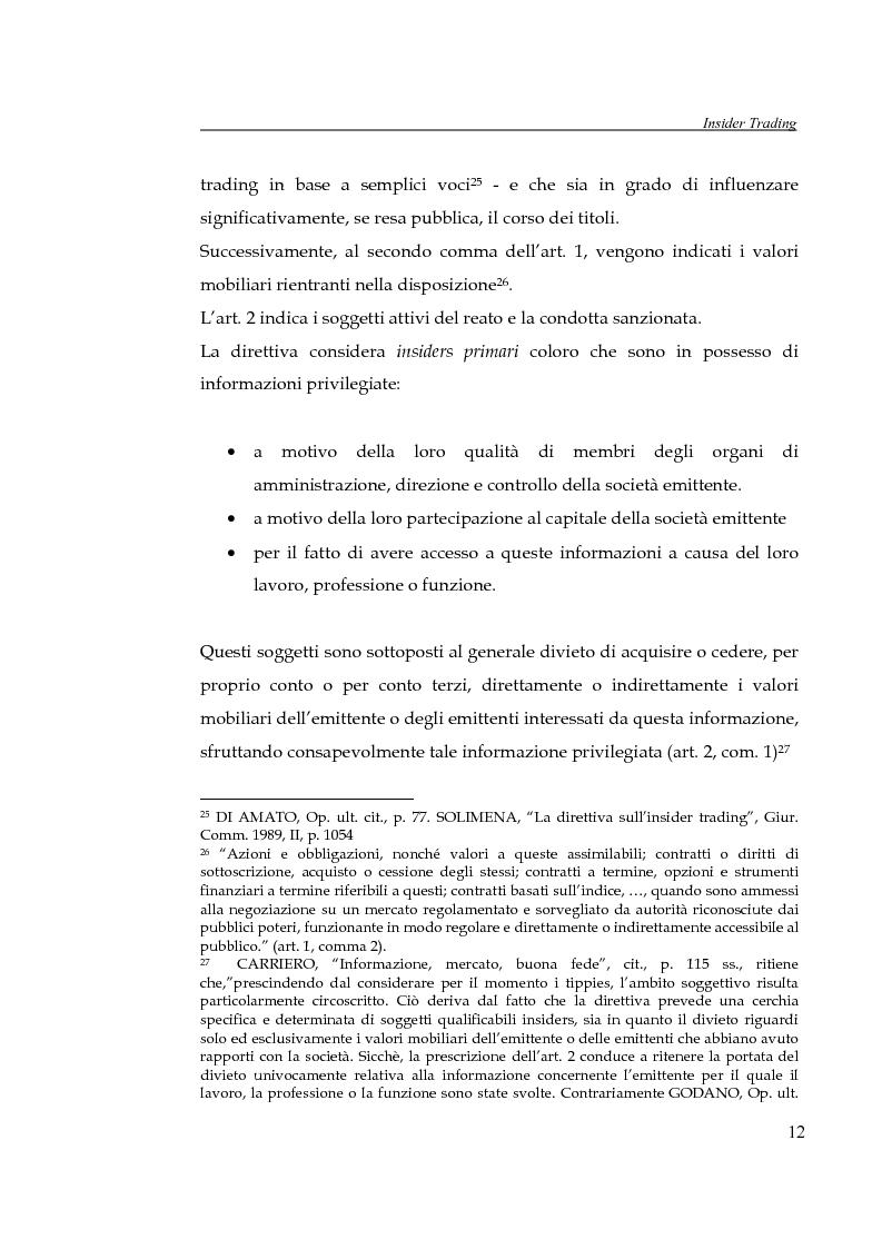 Anteprima della tesi: L'insider trading, Pagina 12