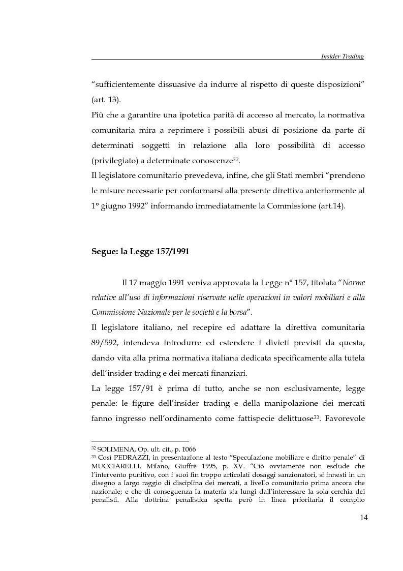 Anteprima della tesi: L'insider trading, Pagina 14