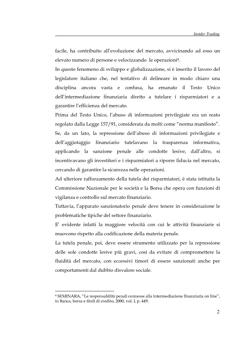 Anteprima della tesi: L'insider trading, Pagina 2