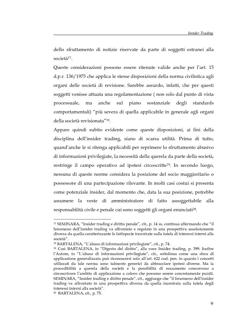 Anteprima della tesi: L'insider trading, Pagina 9