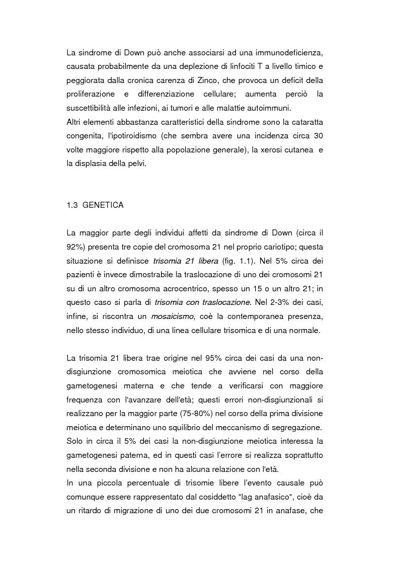 Anteprima della tesi: Uso del Triplo-Test nello screening della trisomia 21 e dei difetti del tubo neurale, Pagina 4
