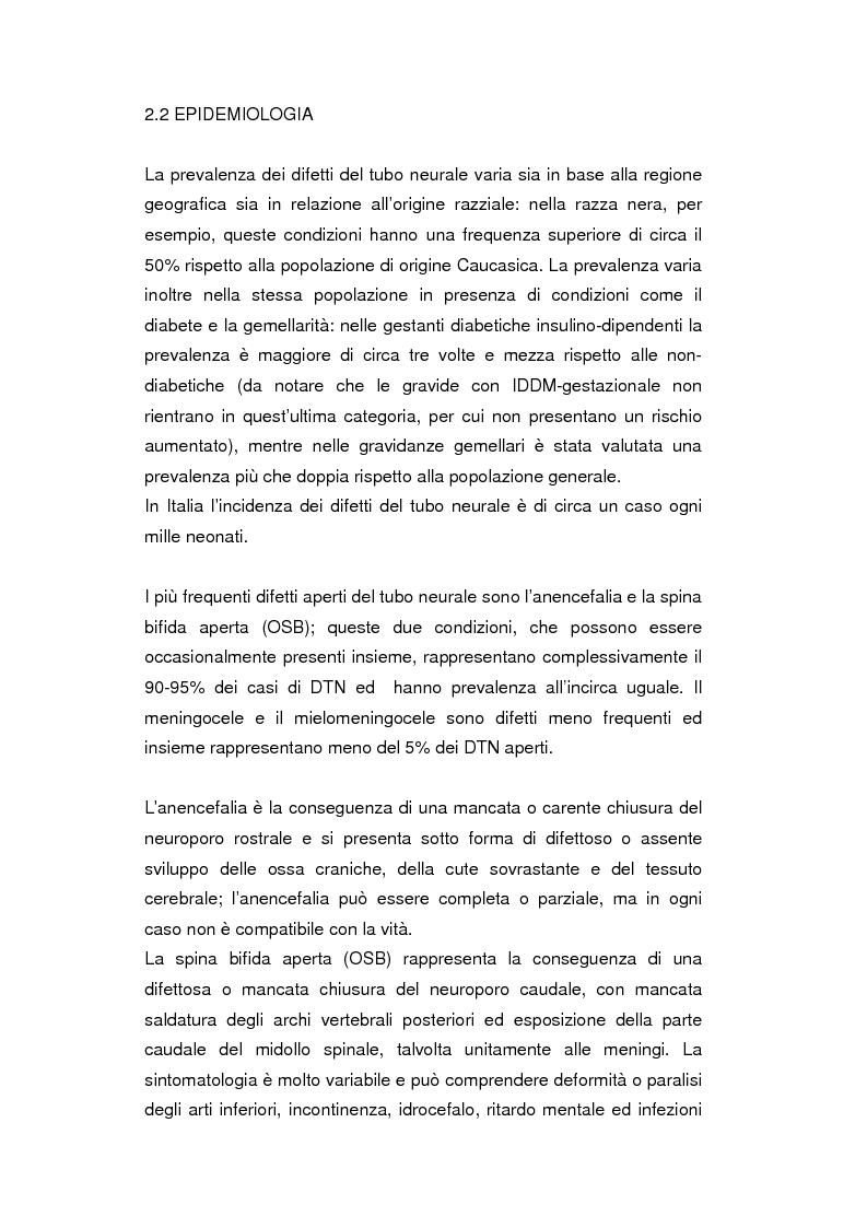 Anteprima della tesi: Uso del Triplo-Test nello screening della trisomia 21 e dei difetti del tubo neurale, Pagina 9